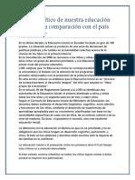 Análisis crítico de nuestra educación en Bolivia a comparación con el país de Ecuador.pdf