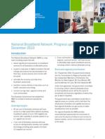 National Broadband Network  - Progress Update December 2010