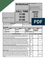 call sheet  1   1