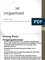 Materi 8 - Struktur Organisasi