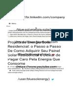 Energia Solar Residencial  Quanto Custa um Projeto-1