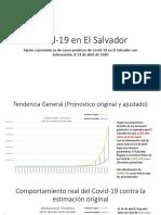 Ajuste de estimación de impacto Covid19 en El Salvador al 14 de abril