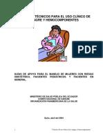 CRITERIO TECNICO, PARA EL USO DE SANGRE.pdf