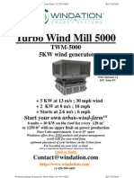 Windation Energy Systems Inc. `5-TWM-5000 Flier About Urban Wind Farm`