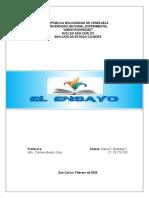 EL ENSAYO (TRABAJO-MARÍA BASTIDAS)