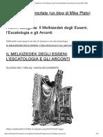 Il Melkizedek degli Esseni, l'Escatologia e gli Arconti
