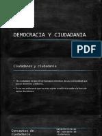 DEMOCRACIA Y CIUDADANIA