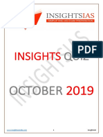Insights October 2019 Current Affairs Quiz Compilation