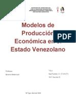 Modelos de Producción Económica en el Estado Venezolano