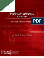 PROGRAMA SECTORIAL FINANZAS Y ADMINISTRACIÓN