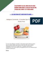 Adelgazar Comiendo - 5 Comidas Que Te Ayudaran a Perder Peso