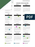 Calendario Laboral Ceuta 2020