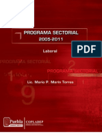 PROGRAMA SECTORIAL LABORAL