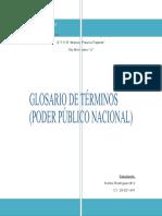 Glosario de términos (Poder Público Nacional)