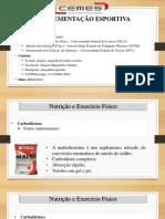 aulas  7 e 8 suplementação esportiva