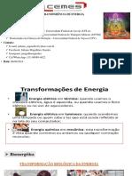 Aulas 9 e 10 Introdução a transferência de Energia