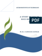 A Study on Use of Rice HUsk Ash in Concrete - M.B.G Sameer Kumar