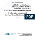 COVID 19 Sterilizers Disinfectants Purifiers Guidance