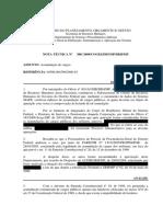 NOTA TÉCNICA 380 - 2009 - Possibilidade de militar inativo acumular os proventos de aposentadoria com remuneração de outro cargo público.