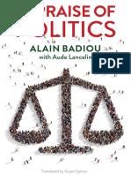 Alain Badiou, Aude Lancelin - In Praise of Politics-Polity (2019)