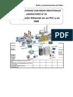 Lab 02 - Configuracion Ethernet en un PLC y un HMI