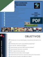 PRIMEROS AUXILIOS RCP Y PREVENCION EN EL RUGBY (A)