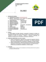 MODELO DE SILABO 2020 - I