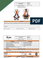 RPP-32 FICHA TECNICA ARNES 4 ARGOLLAS DIELECTRICO Y SOPORTE LUMBAR  IN-8009-1M