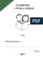 Cuadernillo de Rimas y Slabas 2007