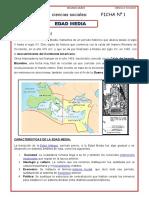 2° GRADO CIENCIAS SOCIALES FICHA 1