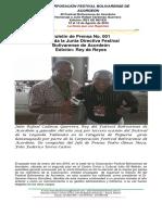 Boletín de Prensa N° 001