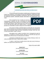 18.04. Carta aberta à sociedade brasileira em defesa da democracia. fórum.