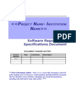 Software Requirement Specifications Template