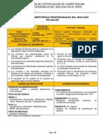 SISTEMA DE CERTIFICACIÓN DE COMPETENCIAS PROFESIONALES DEL BIÓLOGO EN EL PERÚ NORMAS DE COMPETENCIA PROFESIONALES DEL BIOLOGO EN SALUD