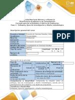 Guía de actividades y Rúbrica de evaluación - Paso 4 -Enfoques, tipos de investigación y el diseño metodológico