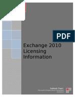 Exchange 2010 License