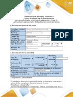 Guía de actividades y rúbrica de evaluación - Fase 3 - Aplicaciones psicosociales de las teorías contemporáneas