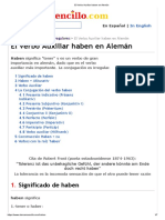 El Verbo Auxiliar haben en Alemán