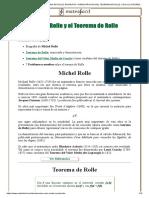 MICHEL ROLLE Y EL TEOREMA DE ROLLE_ BIOGRAFÍA Y DEMOSTRACIÓN DEL TEOREMA DE ROLLE_ CÁLCULO DIFERENCIAL_ BACHILLER, UNIVERSIDAD