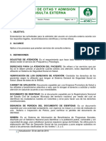 ASIGNACION DE CITAS Y ADMISION A CONSULTA EXTERNA