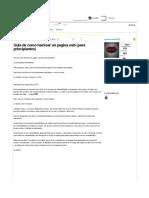 Hackear Pagina Web para Principiantes
