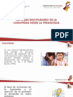 ENFOQUE DISCIPLINARIO DE LA LOGOPEDIA DESDE LA PEDAGOGIA