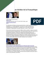 26- Macron digne héritier