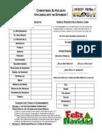 Holiday Vocabulary & Christmas Celebrations in Spanish Speaking World