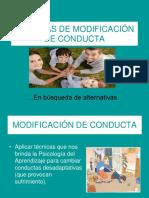 10. TECNICAS DE MODIFICACION DE CONDUCTAS.