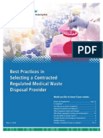 Best Practices in Selecting a Contracted Regulated Medical Waste Disposal Provider