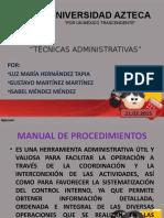 EXPO TECNICAS ADMINISTRATIVAS