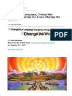 Change Our Language  Change Our Thoughts  Change Our Lives  Change the World