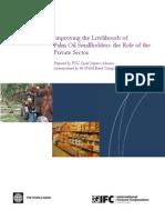 Palm Oil Small Holder Livelihoods