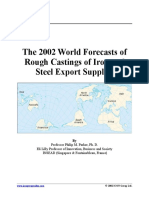 The 2002 World Forecasts of Rough Castings of Iron and Steel Export Supplies.pptx